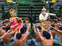 Shinta and Hanoman at Kecak Dance